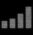 bar chart halftone icon vector image vector image