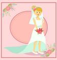beautiful wedding bride vector image vector image