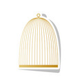 bird cage sign golden gradient icon with vector image vector image