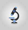 black and blue microscope vector image