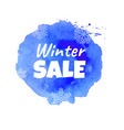 blue sale banner vector image vector image