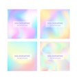 blurred foil holographic background vector image vector image