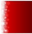 Border snowflakes vector image
