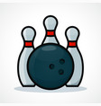 bowling design icon vector image