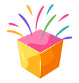 box with splashes vector image