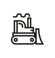 bulldozer icon on white background vector image