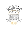 Burger With Sesame Seeds Bun Premium Quality Fast vector image vector image