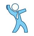 businessman pictogram symbol vector image