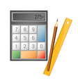calculator and pencil vector image