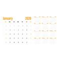 calendar planner 2020 template