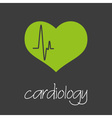 cardiology heart design banner and background vector image vector image