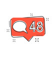 cartoon like comment follower icon in comic style vector image vector image