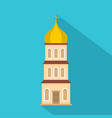 church tower icon flat style vector image vector image