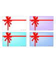 Collection of New Year Card with Red Ribbon vector image