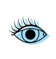 color vision eye with eyelashes style design vector image vector image