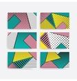 Colorful trend pop art geometric pattern set vector image vector image