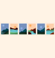 contemporary abstract landscape art modern vector image