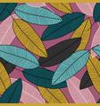 creative leaf wallpaper modern leaves seamless vector image vector image