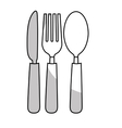 dining cutlery icon image vector image