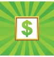 Dollar picture icon vector image