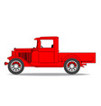 early pickup truck vector image