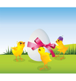 Easrer chicken with egg vector | Price: 1 Credit (USD $1)