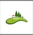 field golf logo template vector image vector image