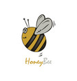 flying cute bee vector image