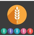 Gluten free icon flat web sign symbol logo vector image vector image