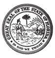 great seal state florida vintage vector image vector image
