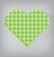 green earth retro heart triangle abstract love vector image