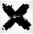 grunge cross on white background vector image vector image
