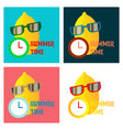 hand drawn cool lemon with glasses isolated on vector image