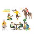 hobbies children and teenagers happy childhood vector image