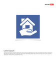 home insurance icon - blue photo frame vector image