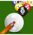 Ivories Billiard Balls Background vector image vector image