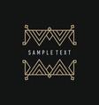 line art decoration geometric frames floral logo vector image vector image