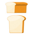 loaf wheat toast bread vector image