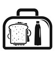 lunch sandwich box icon simple style vector image