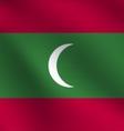 Maldives flag vector image vector image