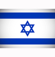 National flag of Israel vector image