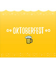 oktoberfest label on orange beer vector image