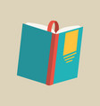 open book with bookmark colorful book icon vector image