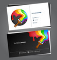 painting business card vector image vector image