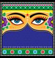 pakistani or indian truck art pattern vector image