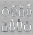 perfumes bottles realistic pictures of glass vector image