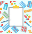 pharmacy flat poster vector image vector image