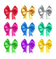 pretty decorative bows from satin vector image vector image