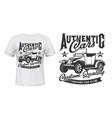 retro cars vintage vehicles club t-shirt print vector image vector image
