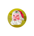 Santa Claus Father Christmas Low Polygon vector image vector image